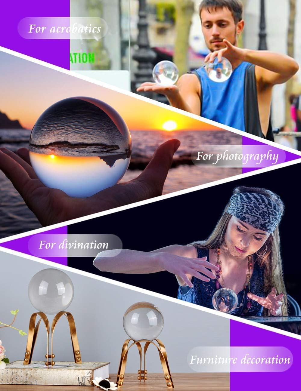 Boule pour objectif photo 90mm with pouch accessoire d/écoratif et photographie boule en cristal K9 avec pochette en microfibre