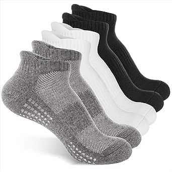 AUGOLA - Calcetines deportivos acolchados para correr, 6 pares de calcetines deportivos de algodón, calcetines para hombre, mujer, talla baja, calcetines atléticos: Amazon.es: Ropa y accesorios