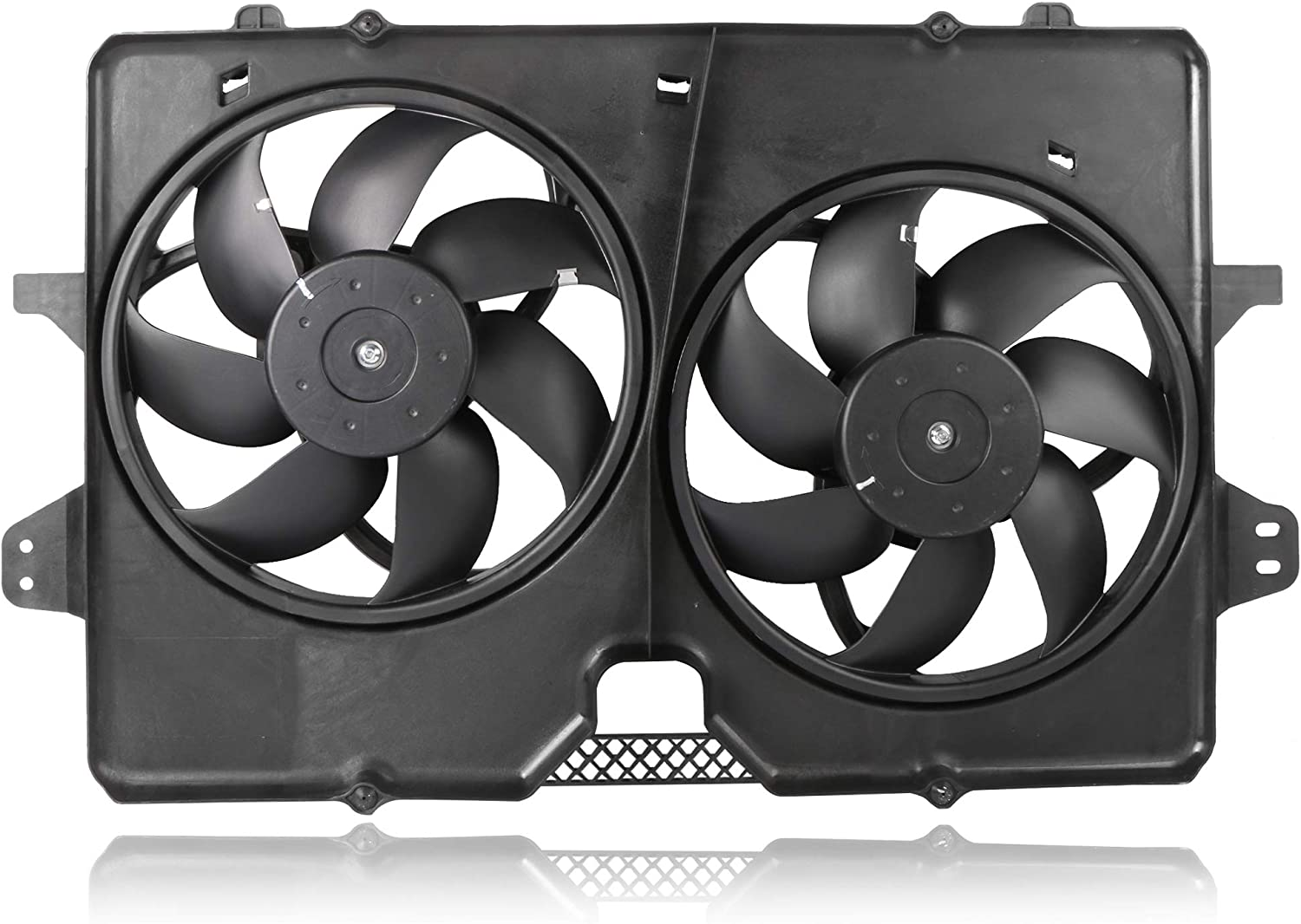 MOSTPLUS Dual Black Radiator Cooling Fan Assembly ZZC415025 for Ford Escape/Mazda Tribute/Mercury Mariner 3.0L 2008-2011