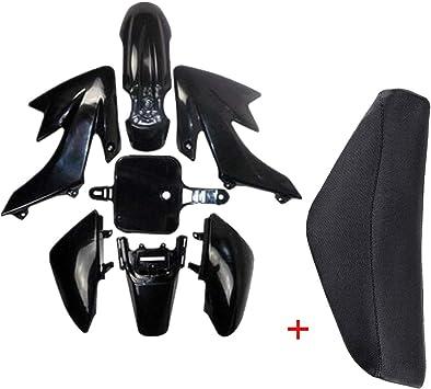4Green+3White JCMOTO Plastic Body Fairing Kit and Tall Seat For CRF XR CRF50 XR50 50s 50cc 70cc 110cc 125cc Dirt Pit Bike