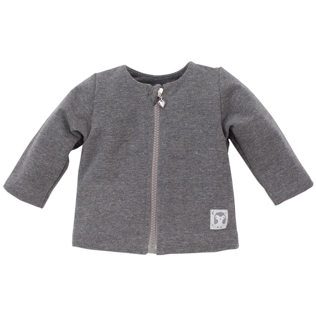 Pinokio J/äckchen f/ür M/ädchen Unisex Grau mit Glitzer und kleine Eule Magic- Baumwollmixjacke Sweatjacke f/ür Babys und Kids 100/% Baumwolle