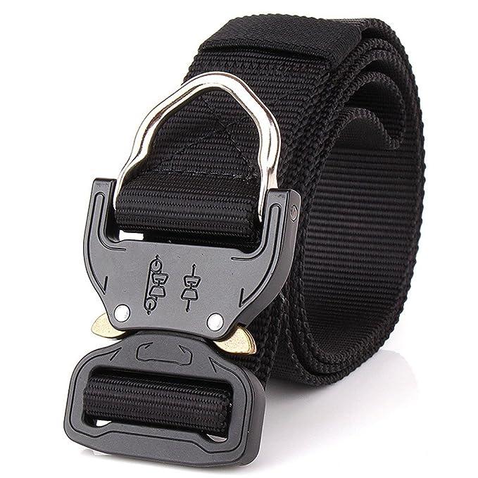 OWIKAR Cinturón de cintura táctico para hombres Cintura de nylon militar multifunción Equipo de entrenamiento militar ajustable Cinturón… RuTAOw8Wz