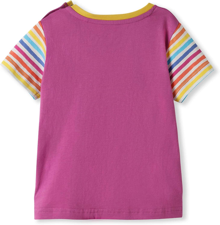 Beb/è Bambini Piccoli Ragazzo Ragazza T-Shirt Manica Corta 0-4 Anni kIDio Cotone Biologico