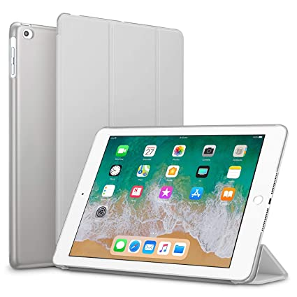 Smart Cover for IPAD AIR / 5, Go Crazzy Translucent Back Flip Case for IPAD AIR/IPAD AIR 5 with Glossy Screen Guard  Grey  Cases   Covers