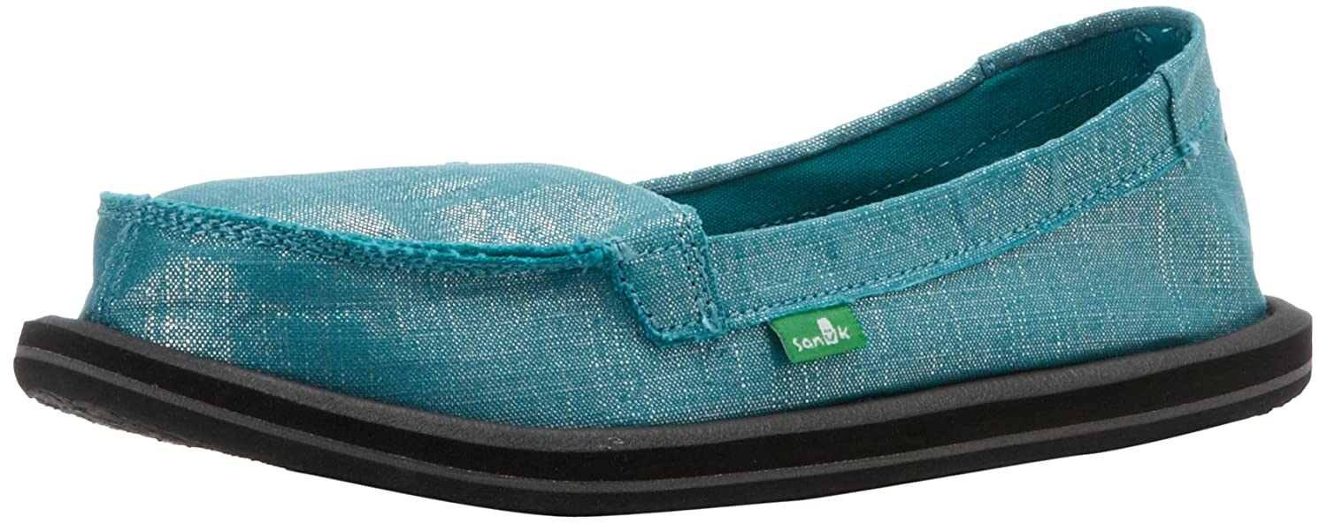 Sanuk Women's Ohm My Slip-On,Teal,5 M US