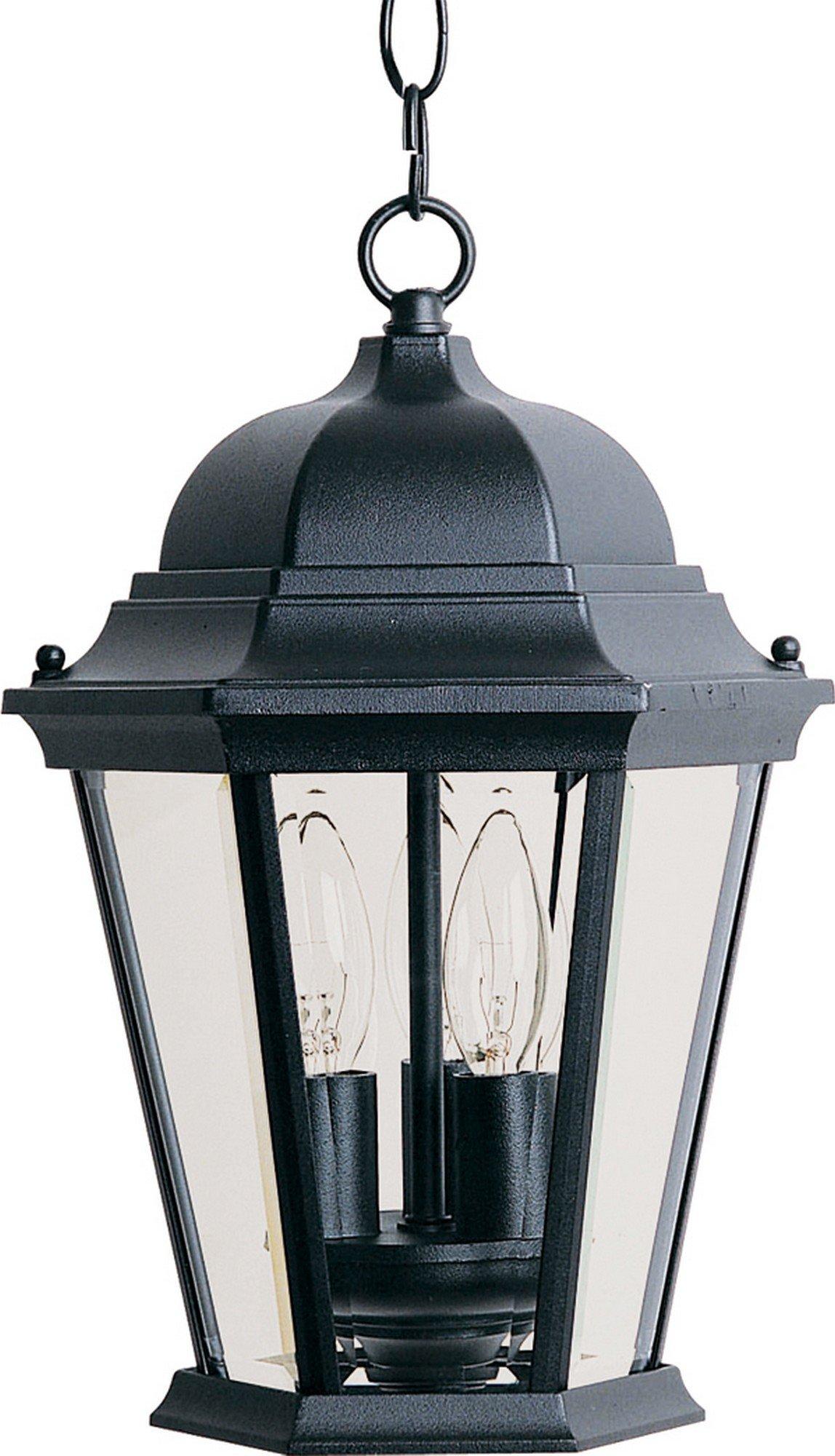 Maxim 1009BK, Westlake Cast, 3-Light Outdoor Hanging Lantern, Black