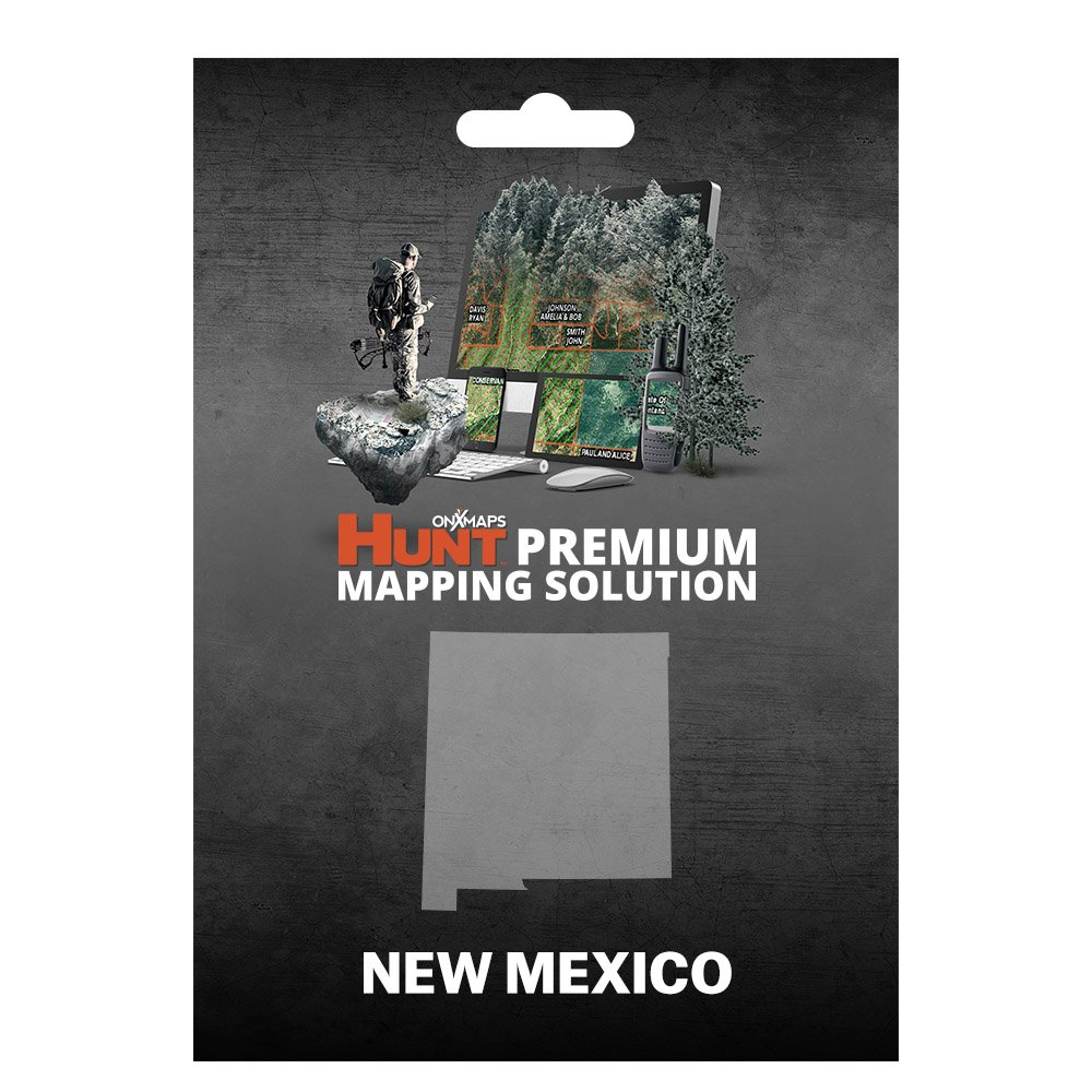 onXmaps HUNT New Mexico: Digital Hunting Map For Garmin GPS + Premium Membership For Smartphone and Computer - Color Coded Land Ownership - 24k Topo - Hunting Specific Data by onXmaps