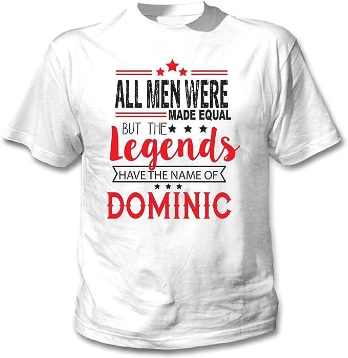 teesquare1st Dominic Camiseta Blanca para Hombre de Algodon ...