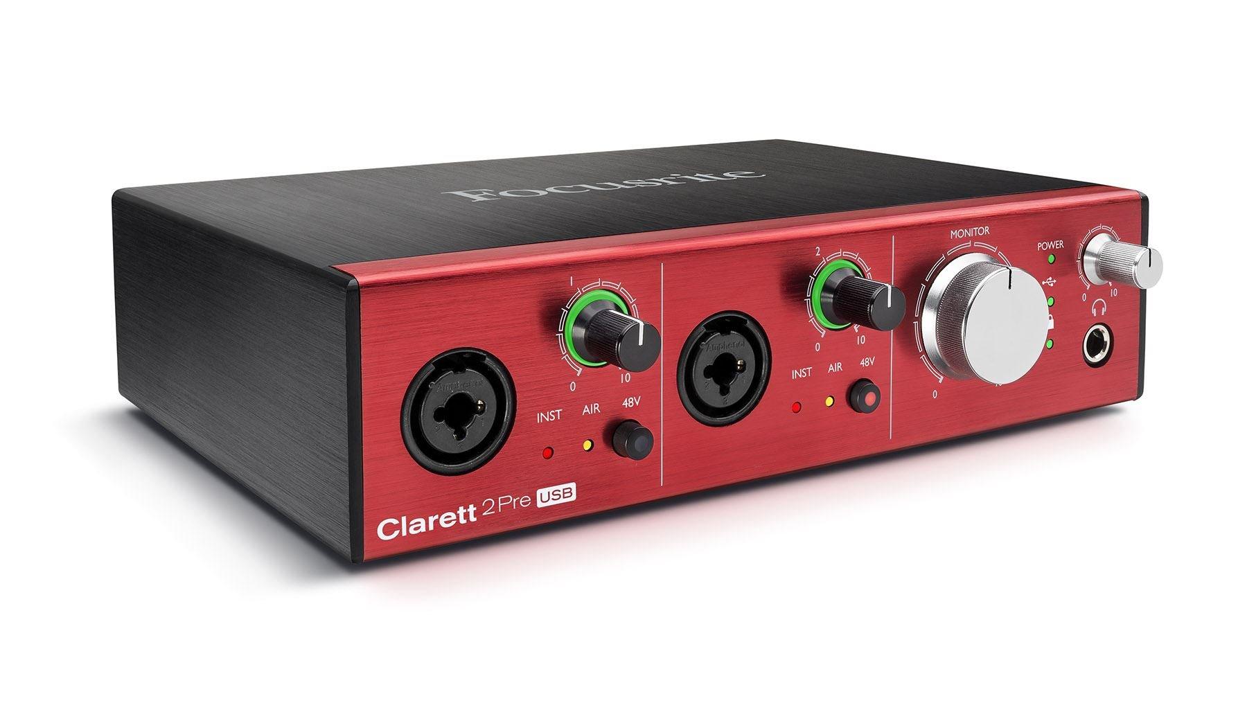 Focusrite Clarett 2Pre USB 10-In/4-Out Audio Interface by Focusrite