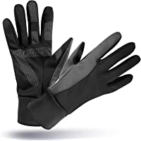 Winter Thermal Gloves with Touch Screen Fingers - Windproof Water Resistant Warm Glove for Running Cycling Driving Snow Skiing for Men and Women