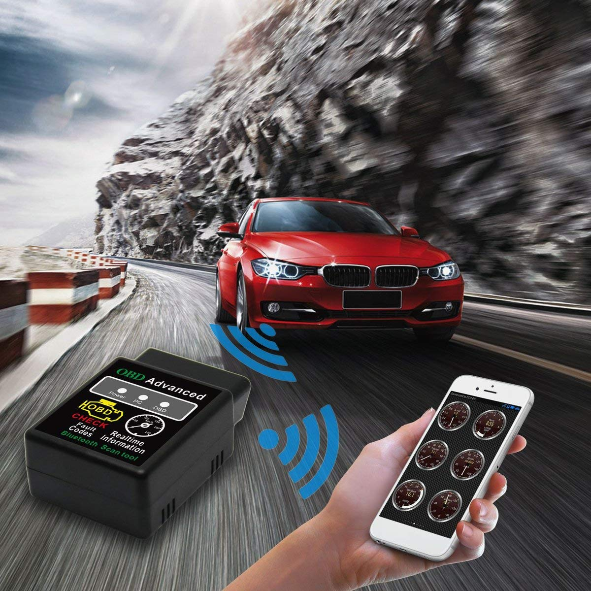 Scanner diagnostico dellautomobile Obd2 Scanner V02H2-1 Lettore di codice diagnostico di Strumento diagnostico di guasto di Automobile dellautomobile del Veicolo Bluetooth