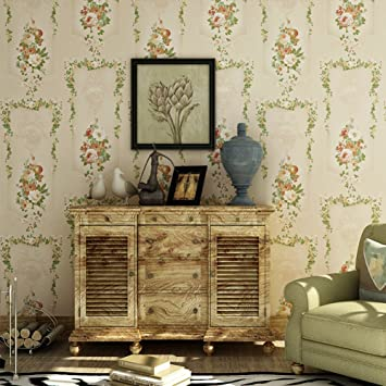Warme pastoral Chlorophytum grüne Tapete/Vliestapete/Zimmer ...