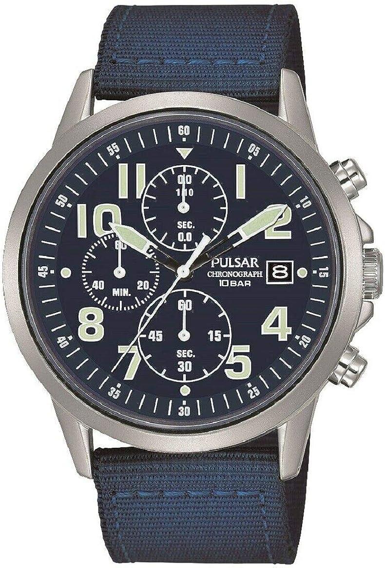 Pulsar PM3177X1 - Reloj militar para hombre con correa de nailon azul