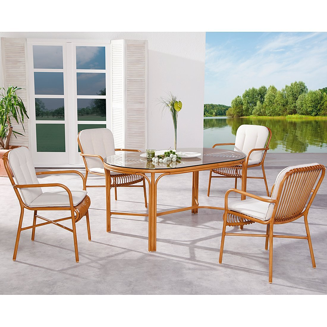 BEST 98193093 9-teilig Dining-Set Bayon
