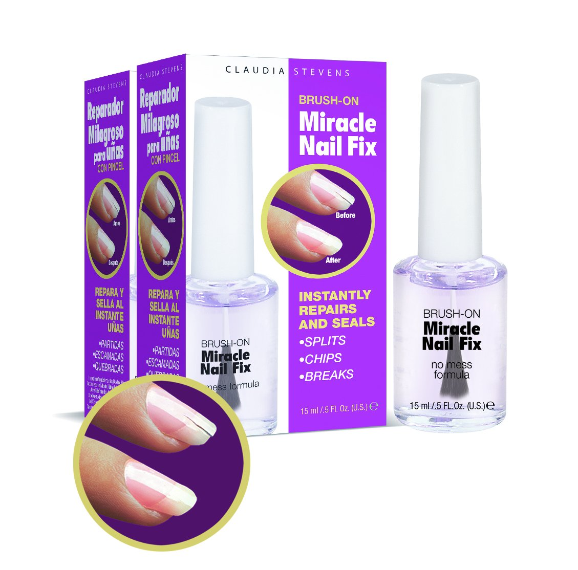 Claudia Stevens Miracle Nail Fix (Pack of 2) Fisk Industries
