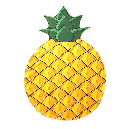 Les Trésors de Lily Q0817 - Toalla de Playa de Diseño Ananas Amarilla -