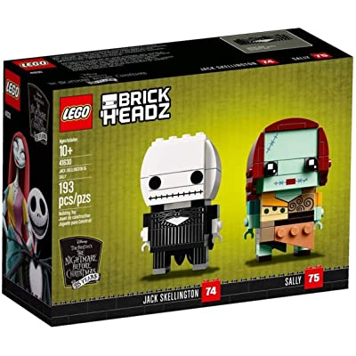 LEGO Disney The Nightmare Before Christmas Brick Headz Jack Skellington & Sally Set: Toys & Games