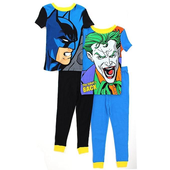 Batman y el Joker niños 4 pc algodón pijama Set