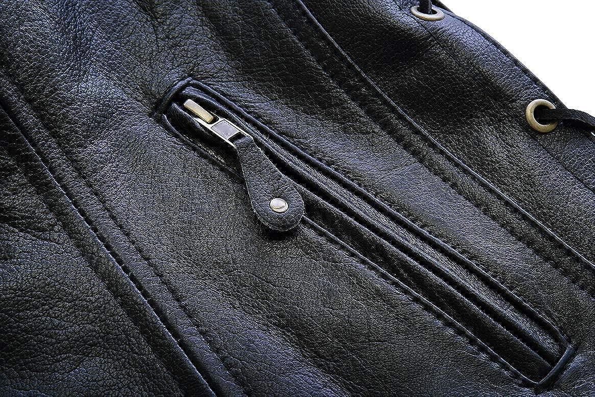 Leatherick Gilet da Donna in Pelle di Bufalo con Tasca Nascosta per Pistola