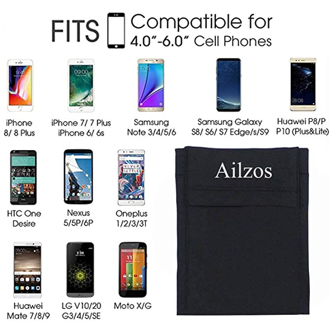 Amazon.com: Ailzos Phone Armband Sports Running Armband Lightweight Arm Band Strap Running Phone Holder Pouch Sleeve Exercise Workout iPhone 8/7/6/5,Samsung ...