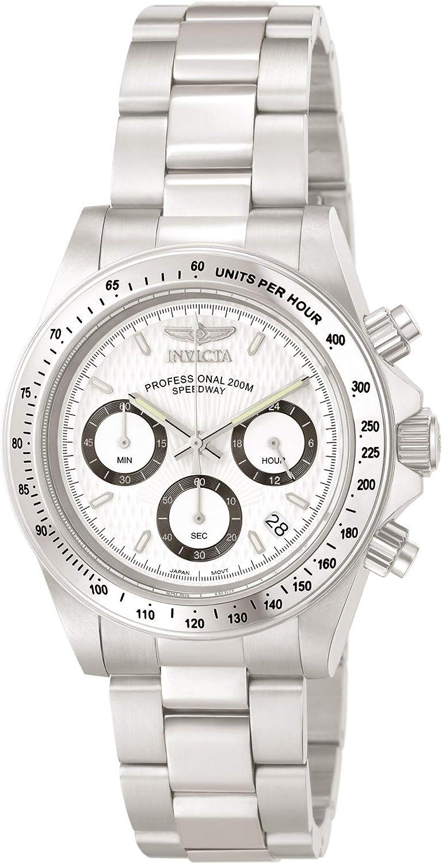 Invicta 9211 Speedway Reloj Unisex acero inoxidable Cuarzo Esfera blanco