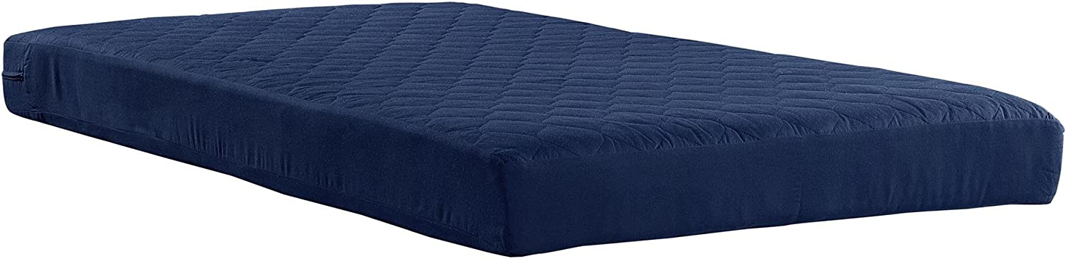 """Memory Foam Mattress Comfort Polyester Quilted Tight Sleep 6/"""" Multiple Size Blue"""