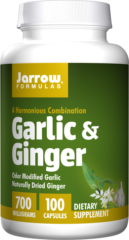 Jarrow Formulas Garlic and Ginger, 100 Capsules (Pack of 2)