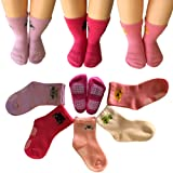Amazon Price History for:Kakalu 5 Pairs 12-36 Months Baby Girl Upside Down Cartoon Anti-Slip Cozy Ankle Cotton Socks Toddler Walker Non Skid Sneakers Footsocks Shoe Socks Foot Cover With Grips