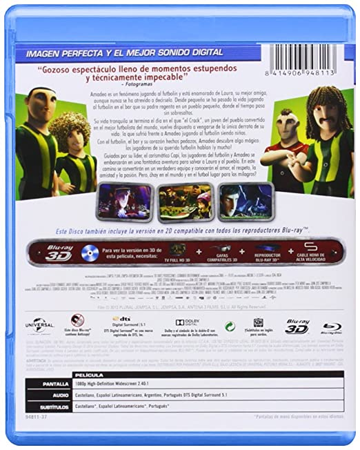 Futbolín (BD + BD 3D) [Blu-ray]: Amazon.es: Personajes animados ...