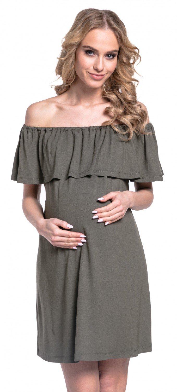 Mujer Vestido en Capas Volante Premamá Lactancia Cuello Bardot. 624p product image