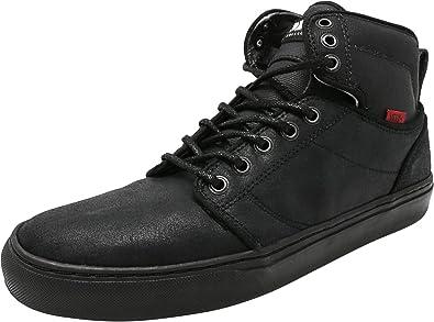 1c2a23e25a990 Vans Men s Alomar Bomber Black Mid-Top Leather Fashion Sneaker ...