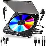 Leitor de CD player portátil duplo versão de fone de ouvido botão touch button reprodutor cd walkman disciso recarregável dis