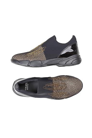 800329575bbf42 PINKO Damen Sneakers Turbine ohne Schnürung Sohle Gummi-Rundspitze ...