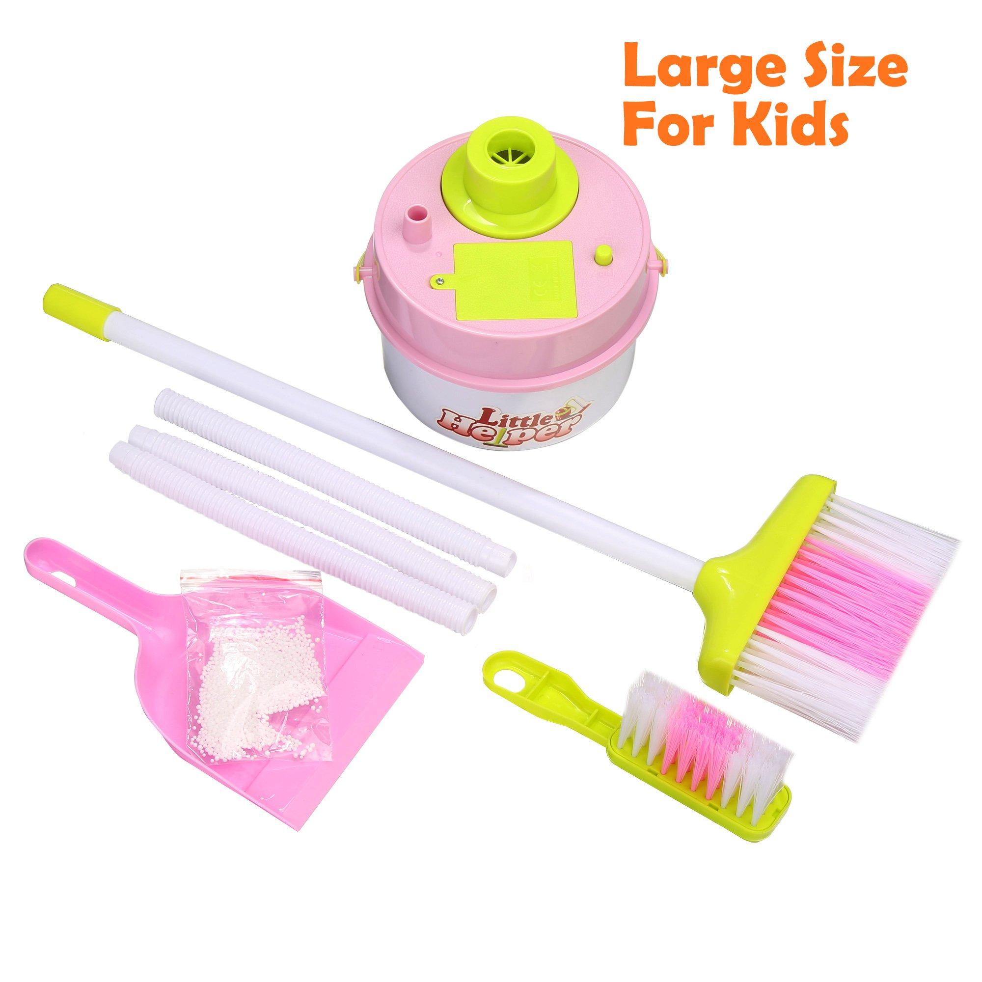(US Stock) Arshiner Toddlers Kids Mini Housekeeping Cleaning Supplies Pretend Play Toys Set Broom/Brush/Dust Pan/Little helper