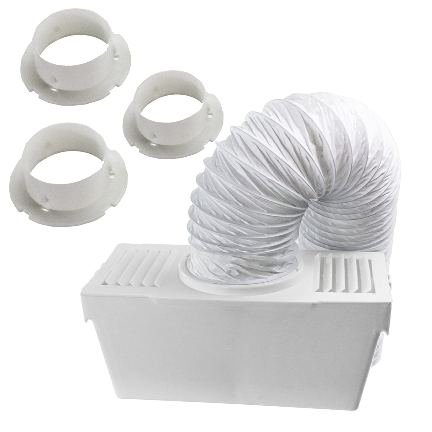 HOTPOINT Wall Vent Kit Vented Tumble Dryer Hose External Outlet Pipe Cowl 4/""