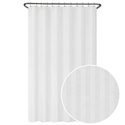 Image Unavailable Not Available For Color MAYTEX Ultimate Striped Waterproof Fabric Shower Curtain