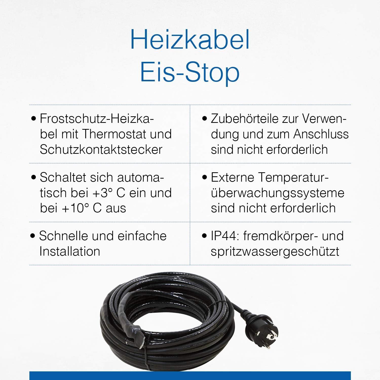 Heizschnur Heizkabel elektrisch Heizung Frost Schutz Rohre 24V 230W 15m AC DC