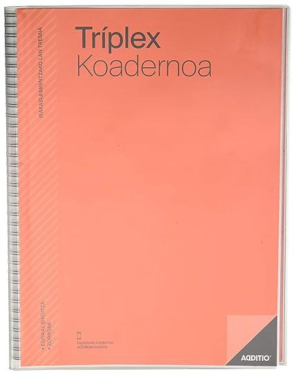 Additio P193 - Cuaderno Tríplex (euskera), color rojo