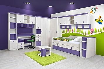 Kinderzimmer Komplett Set.Kinderzimmer Komplett Set D Luis 16 Teilig Farbe Eiche