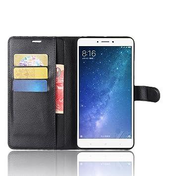 SMTR Xiaomi Mi Max2 Cartera Fundas de PU Cuero Flip, Standing Leather Wallet Case Cover Carcasa Funda con Ranura de Tarjeta Cierre Magnético y función ...