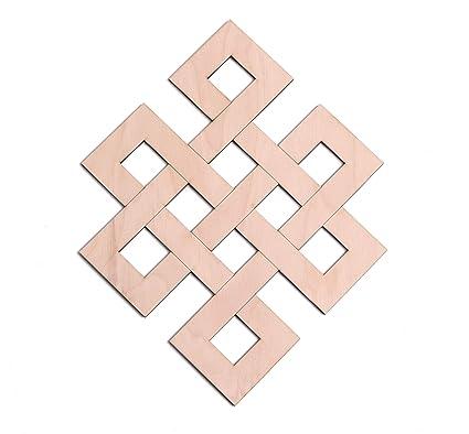 "8808aa49a Infinity Knot Wooden Wall Art 12"", Eternal Knot, Hindu Tantra, Wooden  Wall"