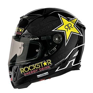 Airoh Casco de Moto GP de 500, color Negro (Rockstar), talla 58-M ...