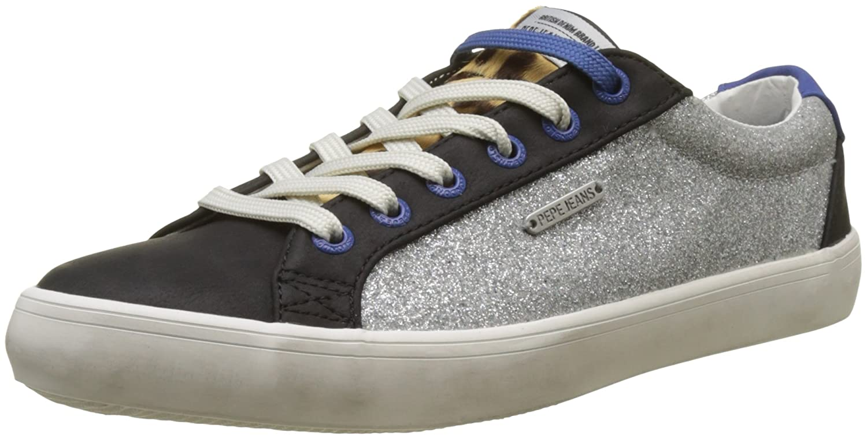 argentoo (argento) Pepe Jeans estrellak Blim, Sautope da Ginnastica Basse Donna