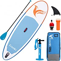 """Freein Kids sup Inflatable Stand Up Paddle Board 7'8"""" Long ISUP with Pump and Adapter"""