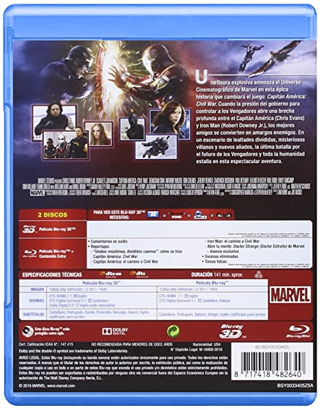 Amazon.com: Capitán América Civil War: Movies & TV