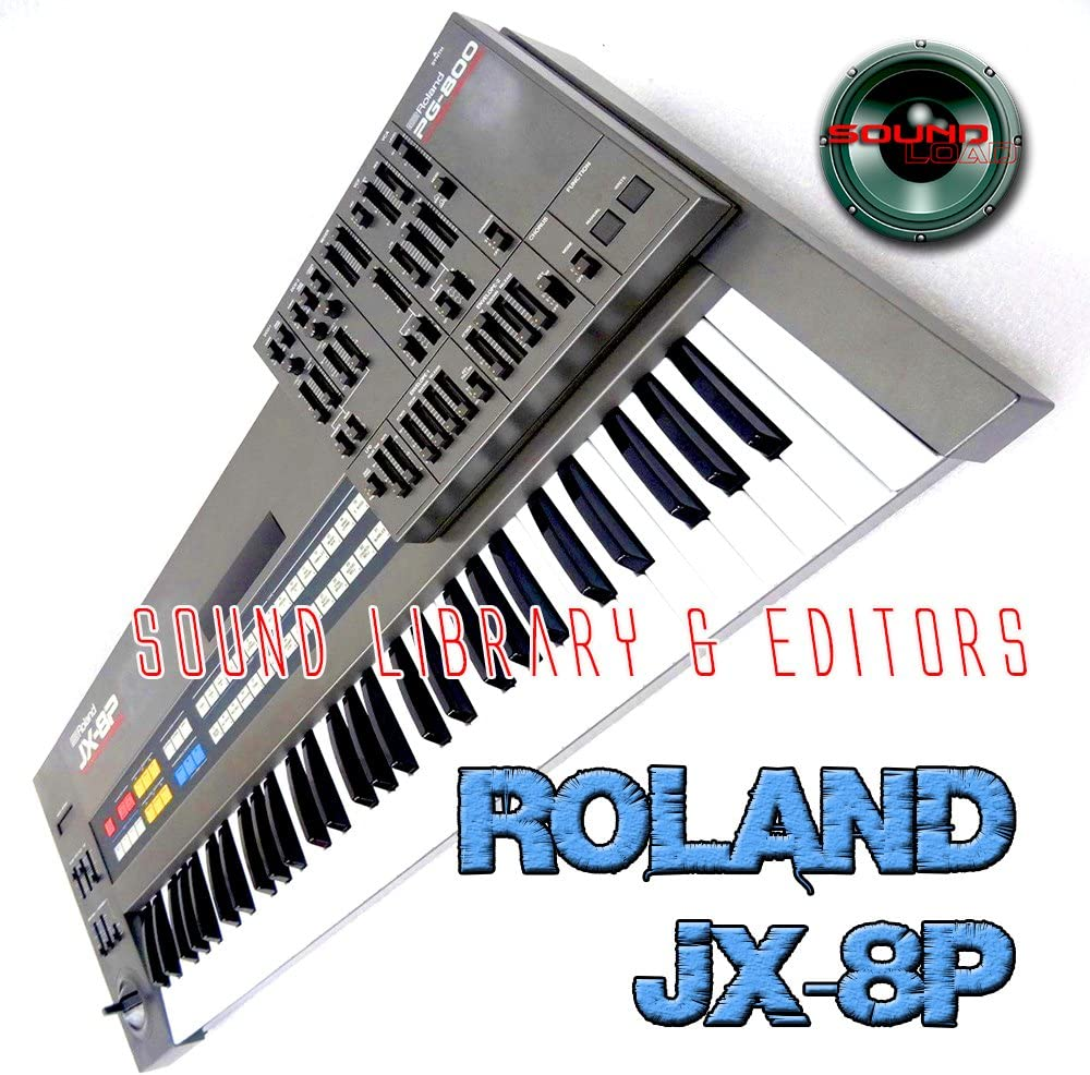 for ROLAND JX-8P Large Original Factory and NEW Created Sound Library /& Editors on CD or download