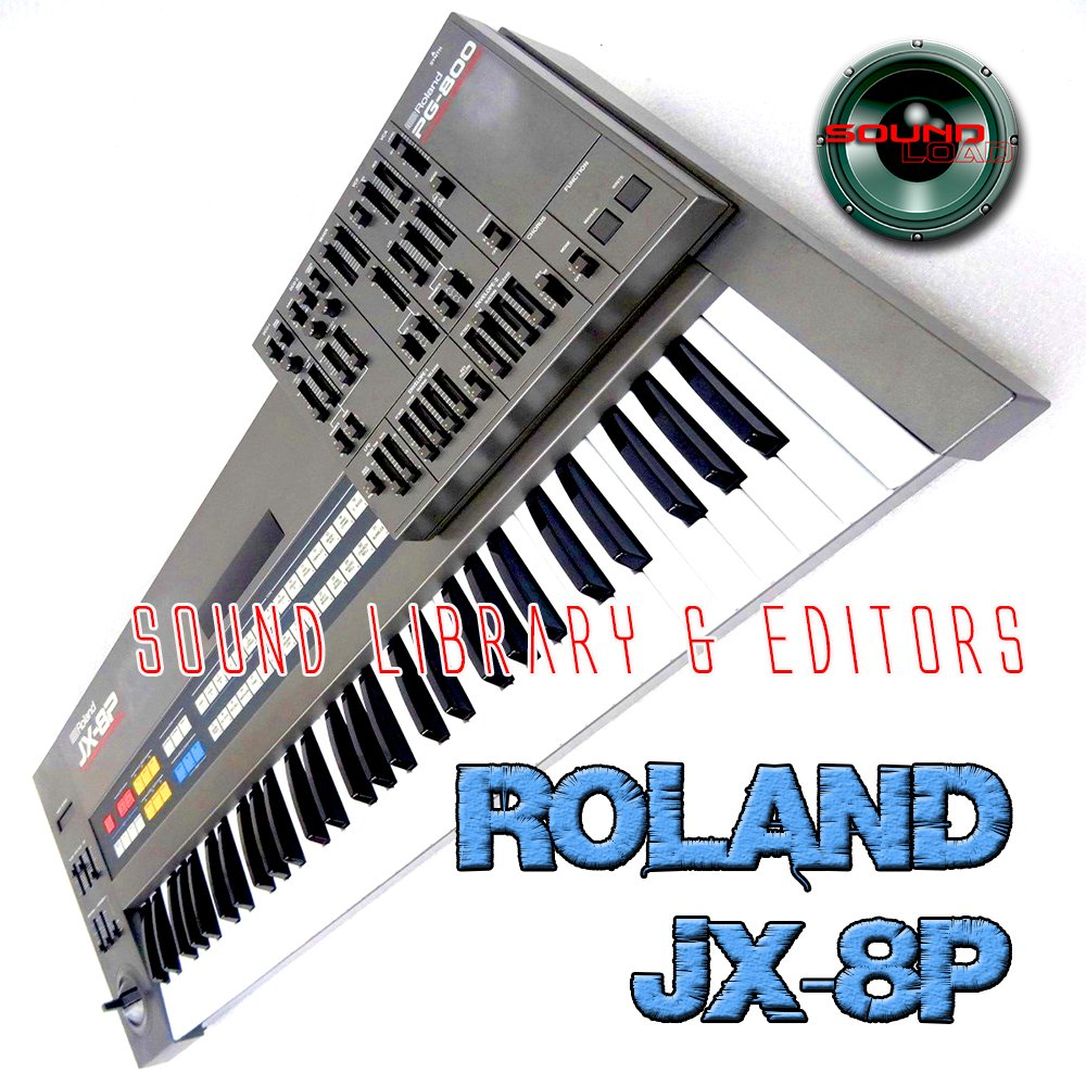 for ROLAND JX-8P Large Original Factory and NEW Created Sound Library & Editors on CD or download