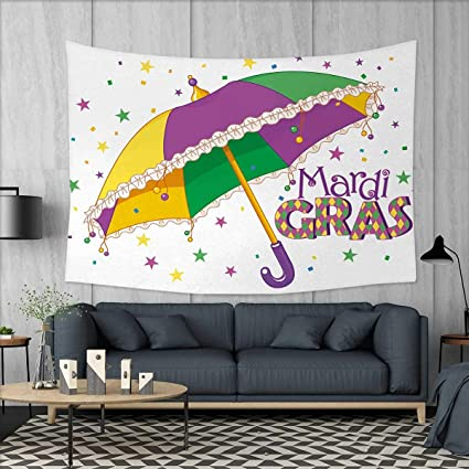 Amazon.com: Anniutwo Mardi Gras Art Wall Decor Parade Preparations ...