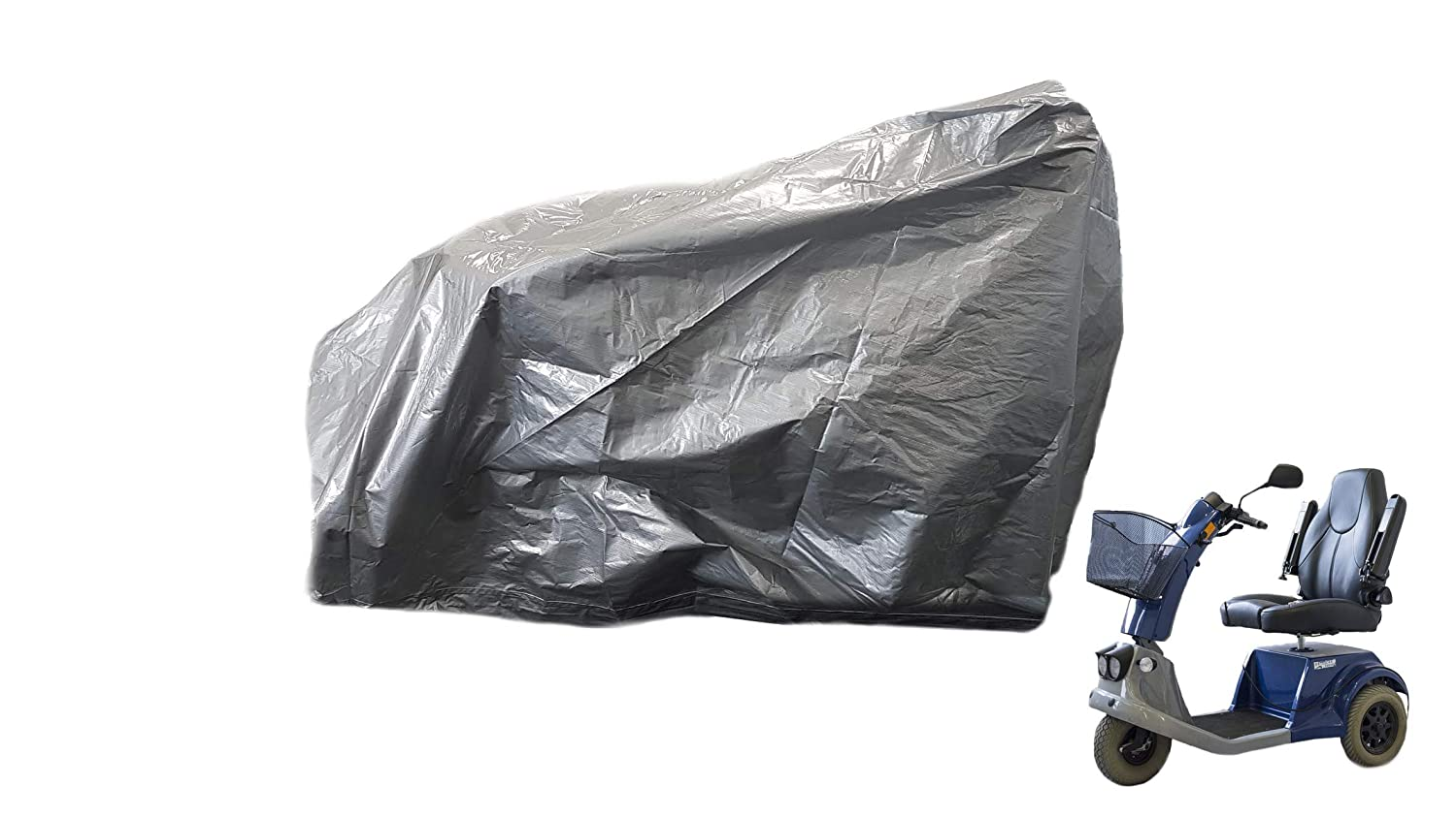Yuzet Reinforced Mobility Scooter Cover Storage Rain Waterproof Disability Protector 180 X 65 X 100CM