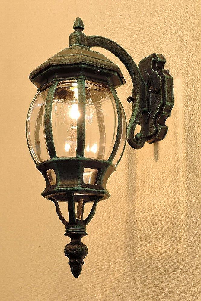 コンコルディア照明 外灯 英国生まれのデザインのエクステリアライト 緑色 下向き EW263/GD B0773B1HDQ